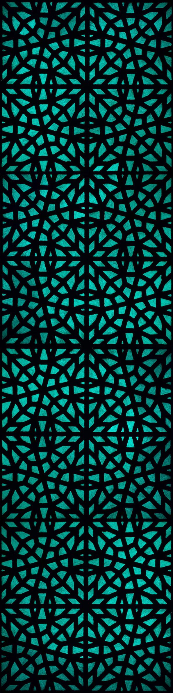 bruneau-pierre-peinture-moucharabiehs-colonne-4-O
